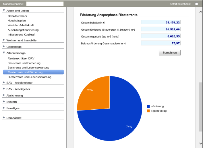 AVP finance tools Riesterberechnung Teil 1